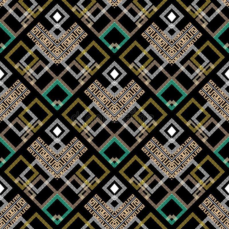 Kleurrijk geometrisch Grieks vector naadloos patroon Moderne abstrac vector illustratie