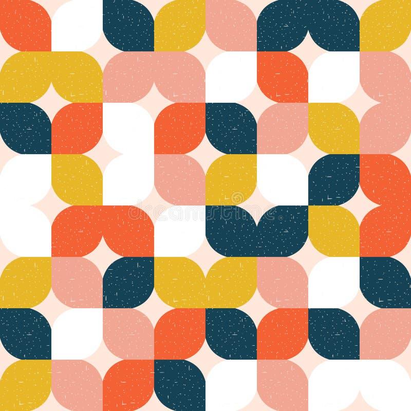 Kleurrijk geometrisch naadloos patroon Retro stijl stock illustratie