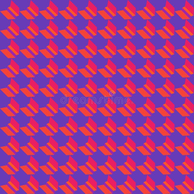 Kleurrijk geometrisch vlak naadloos patroon stock illustratie