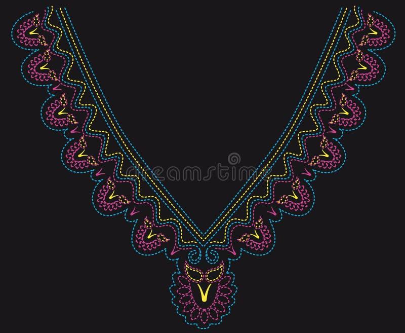 Kleurrijk gepareld ontwerp stock illustratie