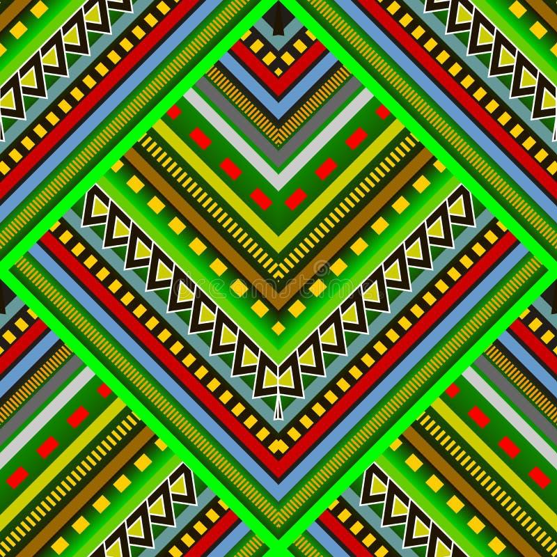 Kleurrijk gestreept stammen vector naadloos patroon Abstracte overladen stock illustratie