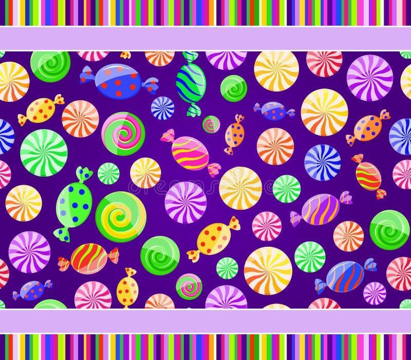 Kleurrijk gestreept suikergoed naadloos patroon royalty-vrije illustratie