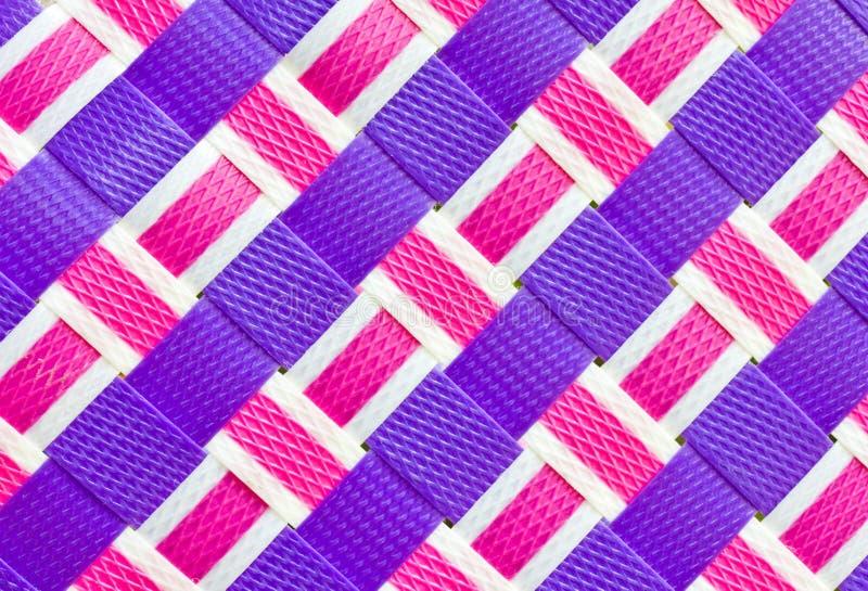 Kleurrijk geweven plastiek. royalty-vrije stock afbeelding