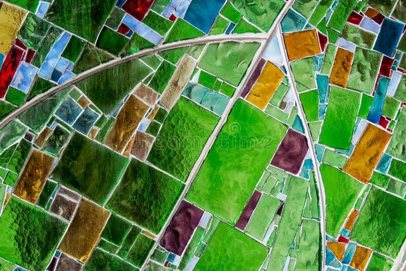 Kleurrijk Glasvenster royalty-vrije stock afbeelding