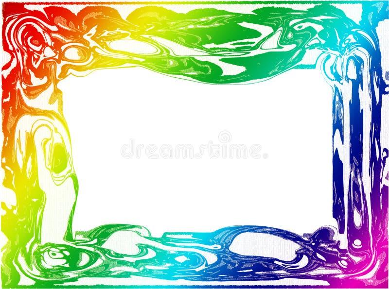Kleurrijk Grens/Frame stock illustratie