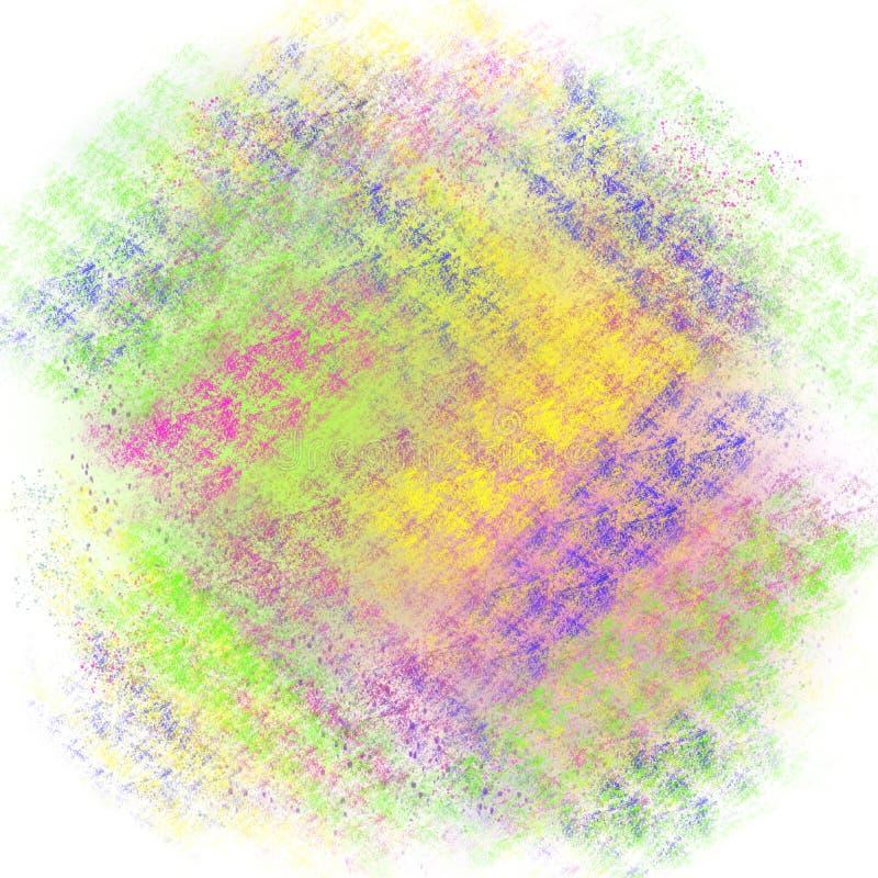 Kleurrijk groen, blauw, roze, geel patroon op de witte illustratie als achtergrond royalty-vrije illustratie