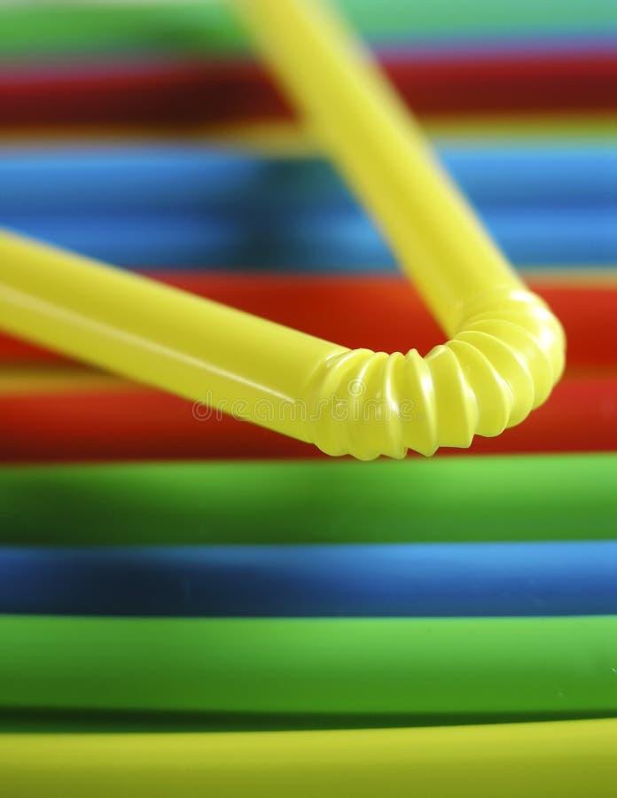 Kleurrijk Het Drinken Stro Royalty-vrije Stock Afbeelding