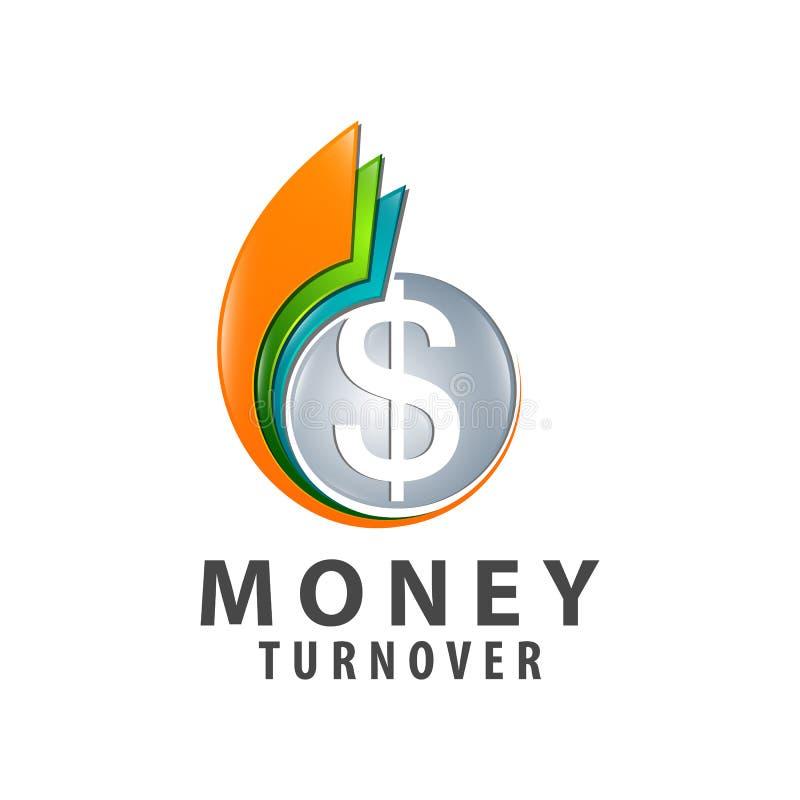 Kleurrijk het embleemconceptontwerp van de geldomzet Element van het symbool het grafische malplaatje stock illustratie