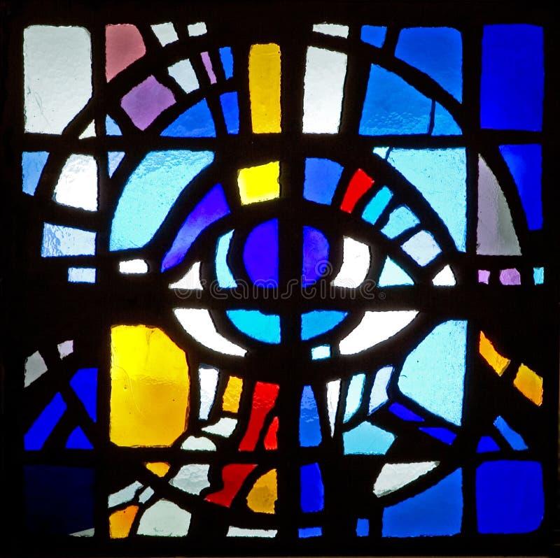 Kleurrijk het gebrandschilderd glasvenster van het plafondmozaïek royalty-vrije stock foto's