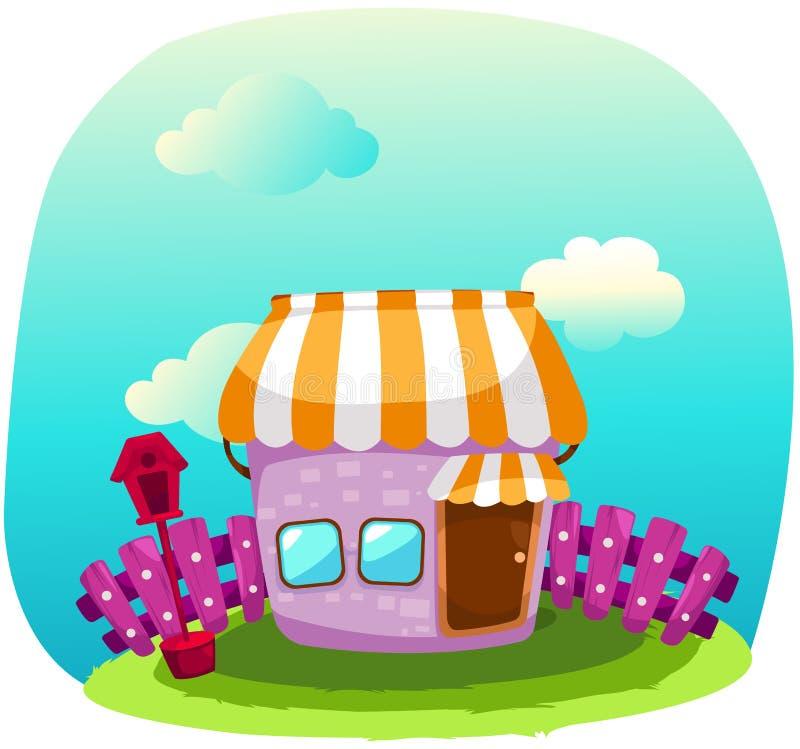 Kleurrijk huis stock illustratie