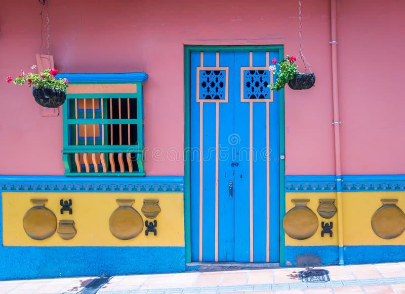 Kleurrijk Huis - Guatape, Colombia royalty-vrije stock foto