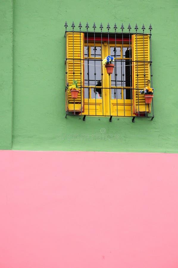 Kleurrijk huis van caminito stock foto's