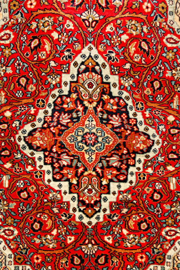 Kleurrijk Indisch tapijt stock foto's