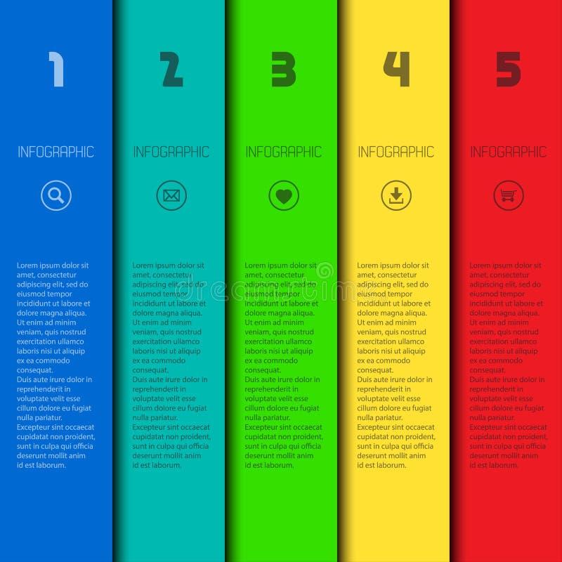 Kleurrijk infographic malplaatje met plaats voor uw inhoud royalty-vrije illustratie