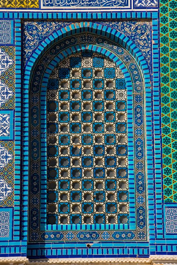 Kleurrijk Islamitisch patroon, mozaïektegels stock foto