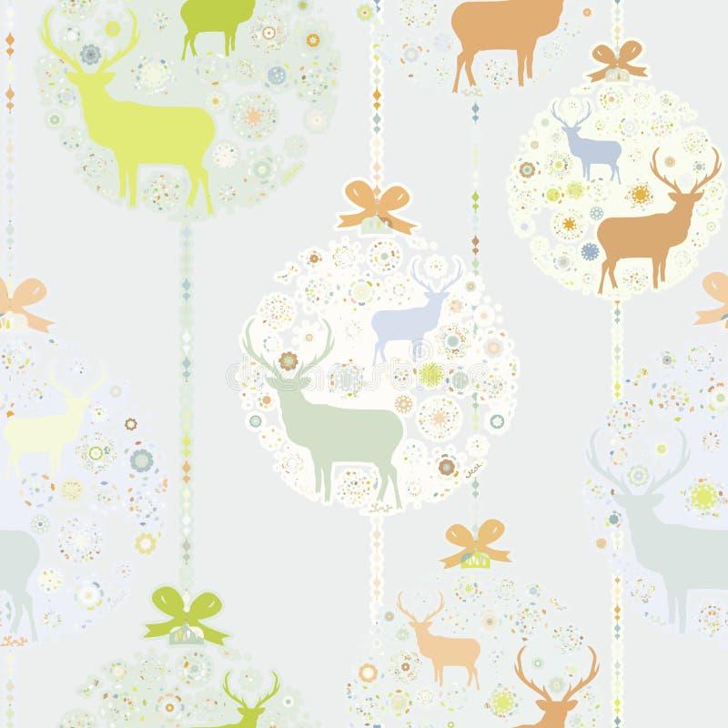 Kleurrijk Kerstmis naadloos patroon. EPS 8 royalty-vrije illustratie