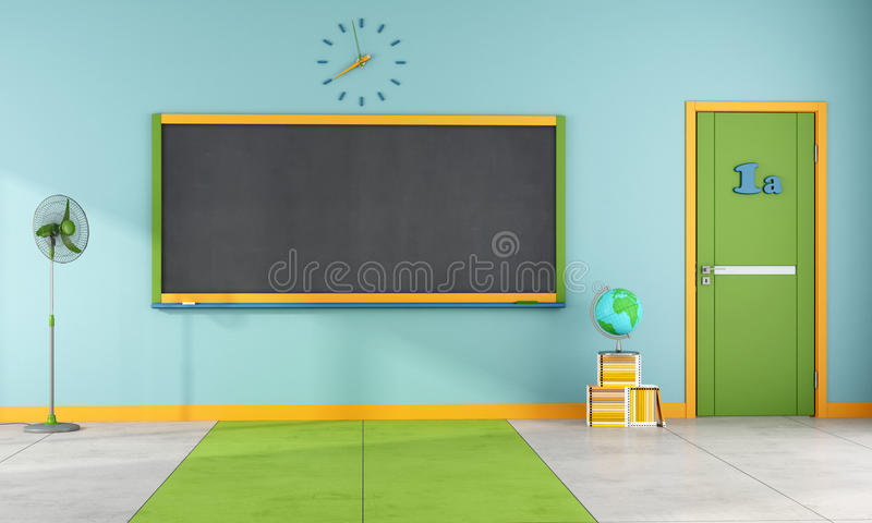 Kleurrijk klaslokaal royalty-vrije illustratie