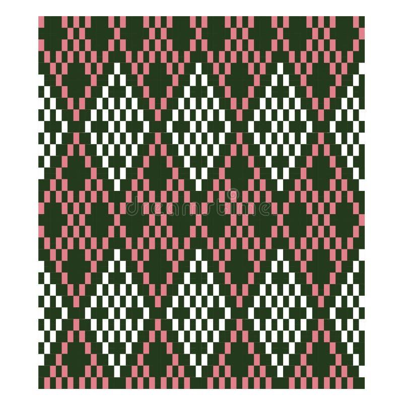 Kleurrijk Klassiek Modern Argyle Seamless Print Pattern royalty-vrije illustratie