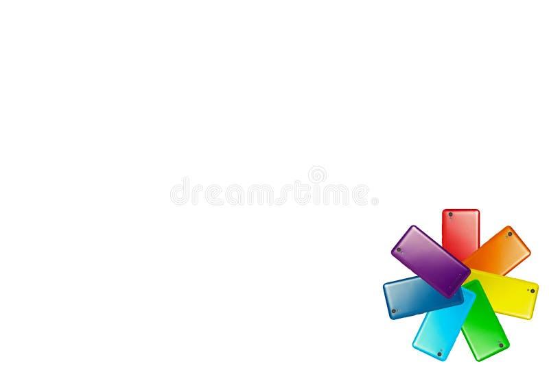Kleurrijk klein embleem royalty-vrije illustratie