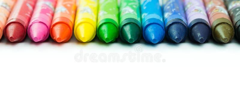 Kleurrijk kleurpotlood stock afbeeldingen
