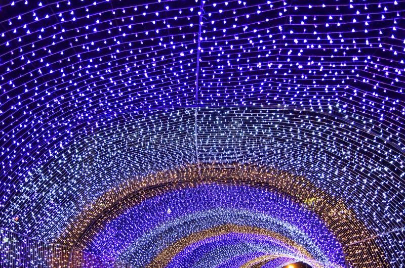 kleurrijk licht bokeh en Kerstmis royalty-vrije stock foto