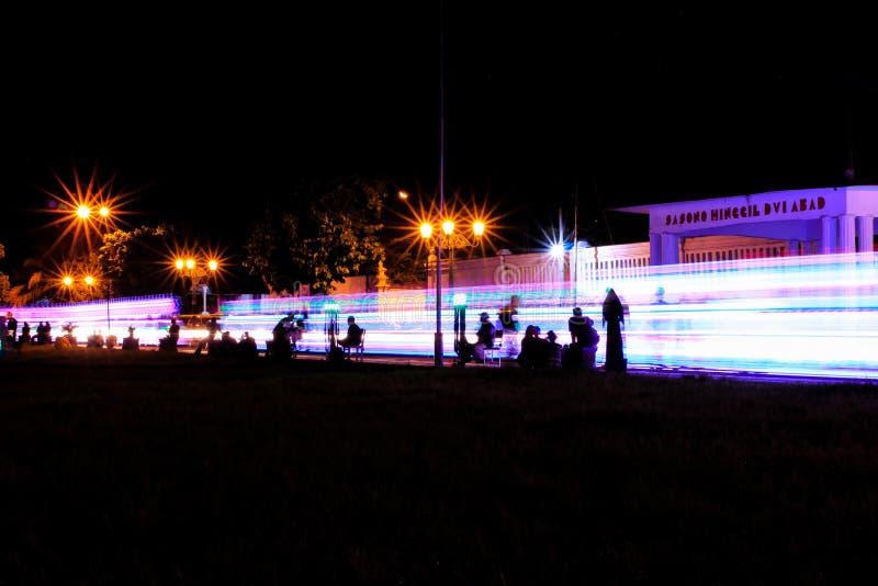 Kleurrijk licht in yogyakarta royalty-vrije stock afbeelding