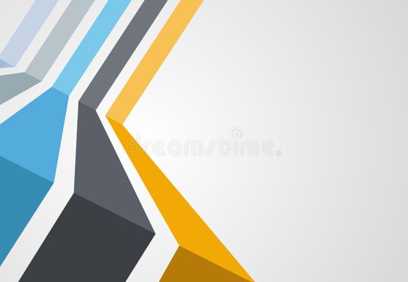 Kleurrijk malplaatje voor brochure vector illustratie