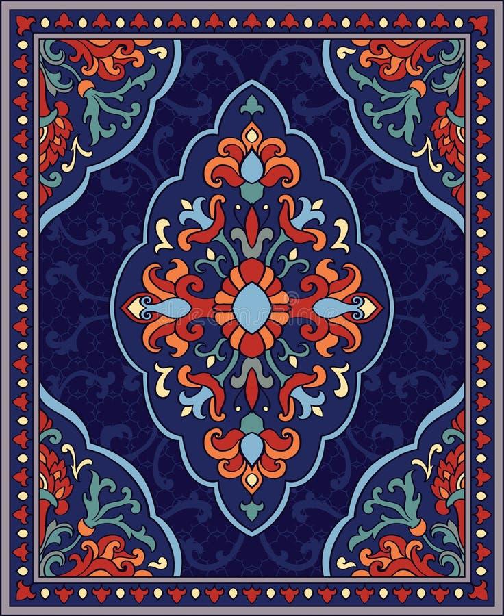 Kleurrijk malplaatje voor tapijt stock illustratie