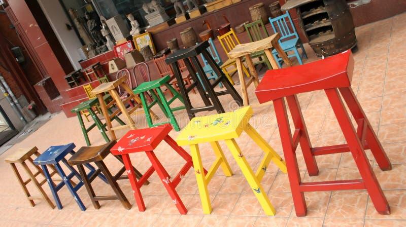 Kleurrijk meubilair stock afbeeldingen