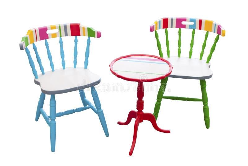 Kleurrijk meubilair stock foto