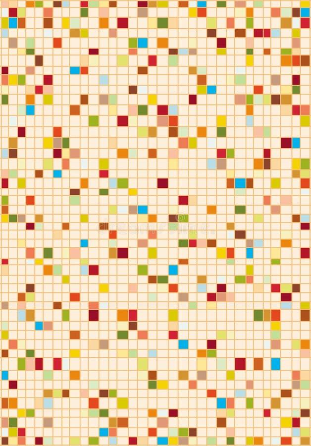 Kleurrijk mozaïek stock illustratie