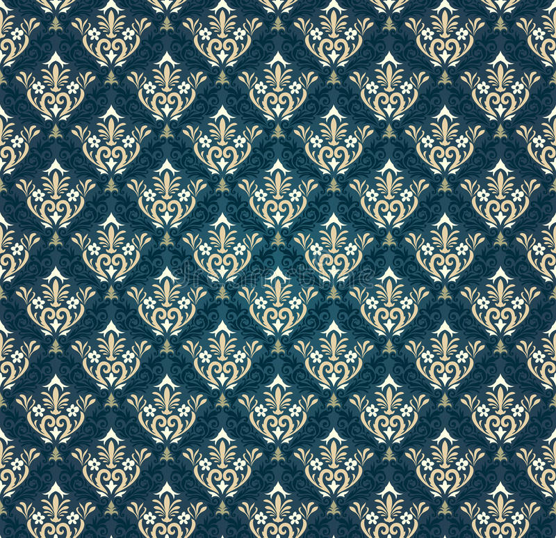 Kleurrijk naadloos damast vector illustratie