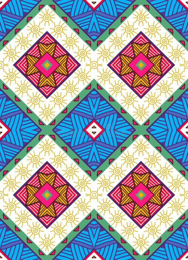 Kleurrijk naadloos etnisch patroon vector illustratie