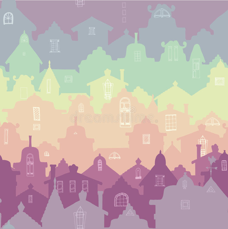 Kleurrijk naadloos patroon stock illustratie