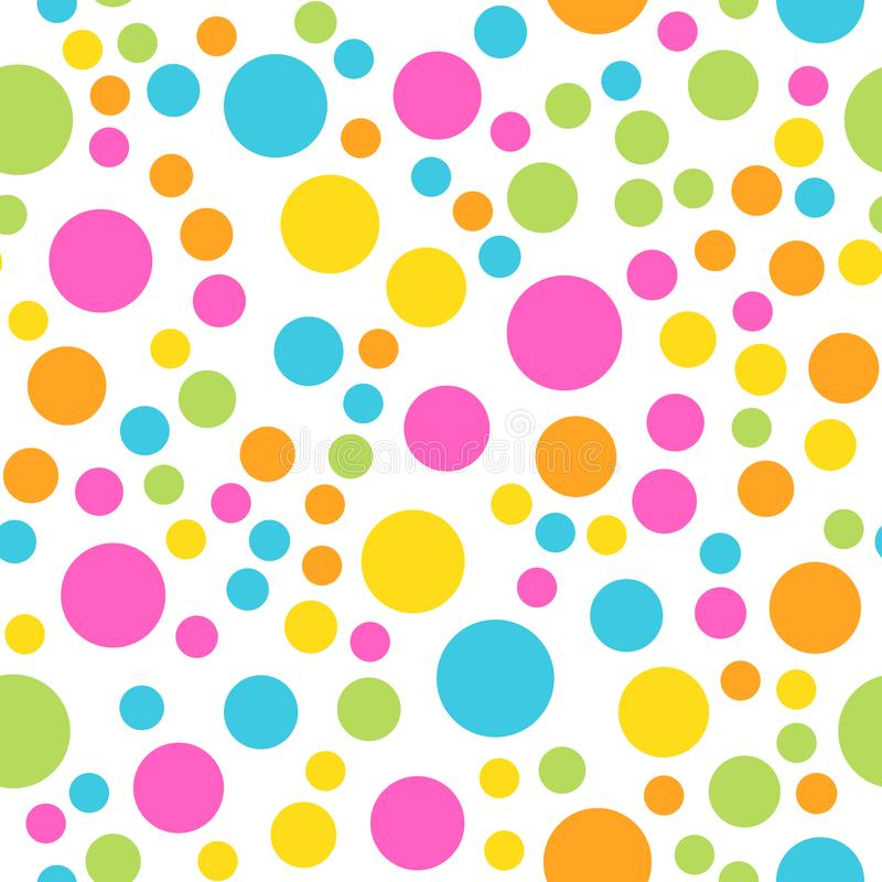 Kleurrijk naadloos patroon Gelukkig, grappig en kinderthema Abstracte vectorachtergrond stock illustratie