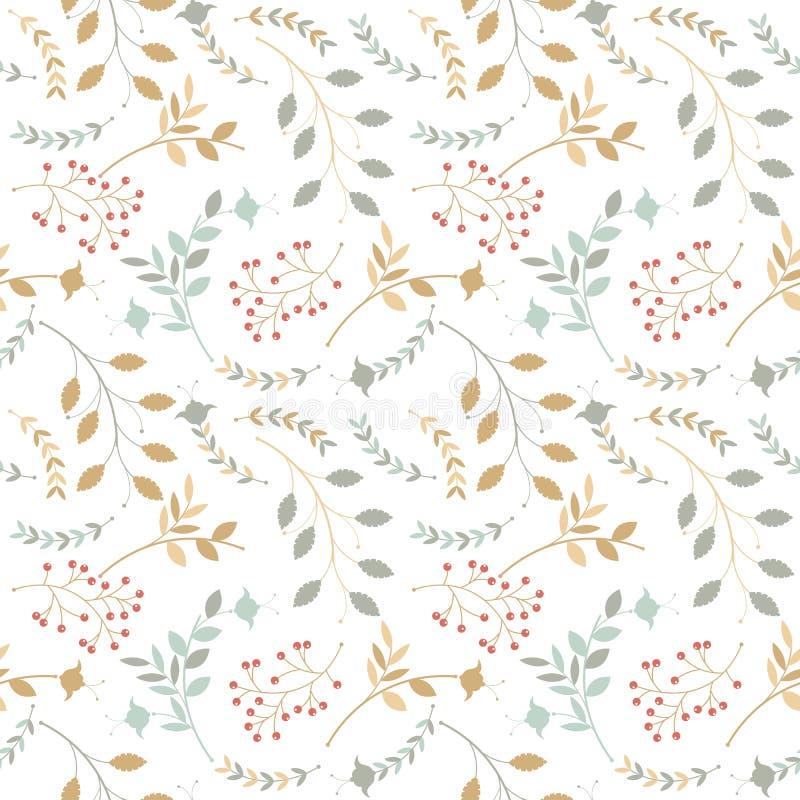 Kleurrijk naadloos patroon met verschillende silhouetten van takken vector illustratie