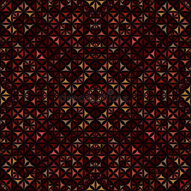 Kleurrijk naadloos samenvatting gebogen de caleidoscooppatroon van het driehoeksmozaïek royalty-vrije illustratie
