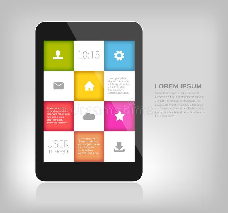 Kleurrijk ontwerp voor mobiele apparaten stock illustratie