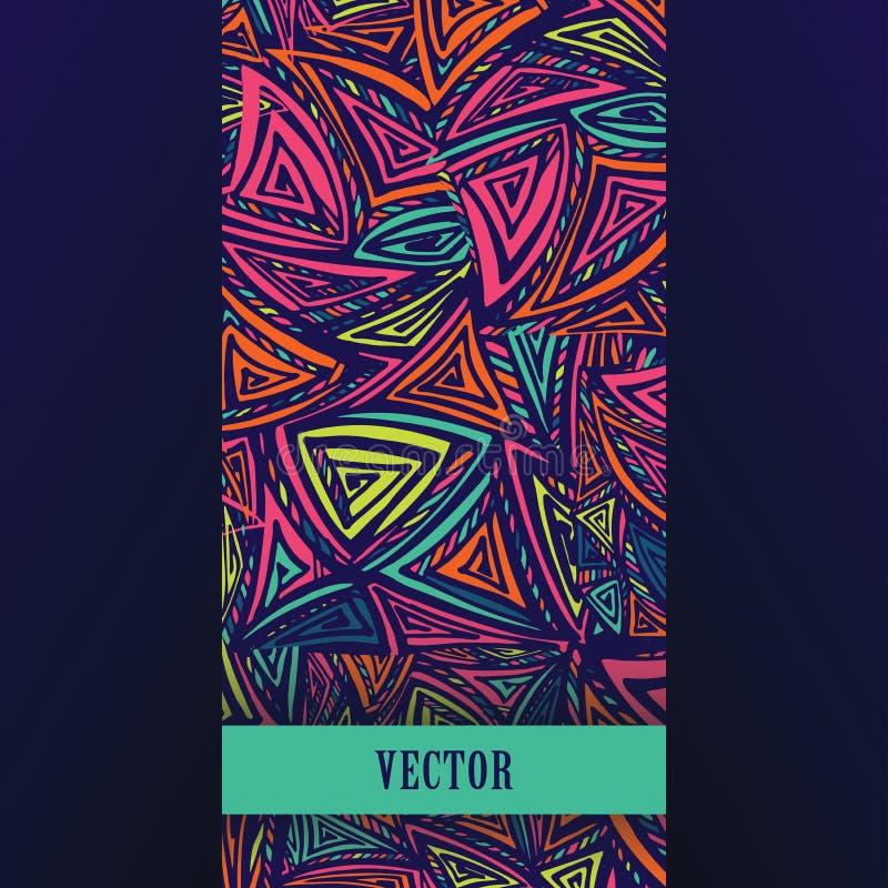 Kleurrijk ontwerpmalplaatje met abstracte driehoeken royalty-vrije illustratie