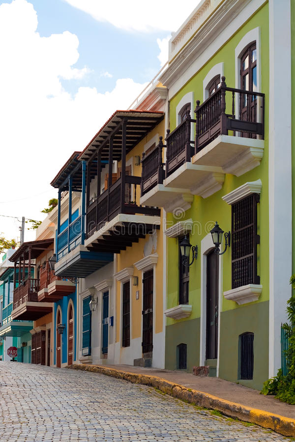 Kleurrijk Oud San Juan PR royalty-vrije stock foto