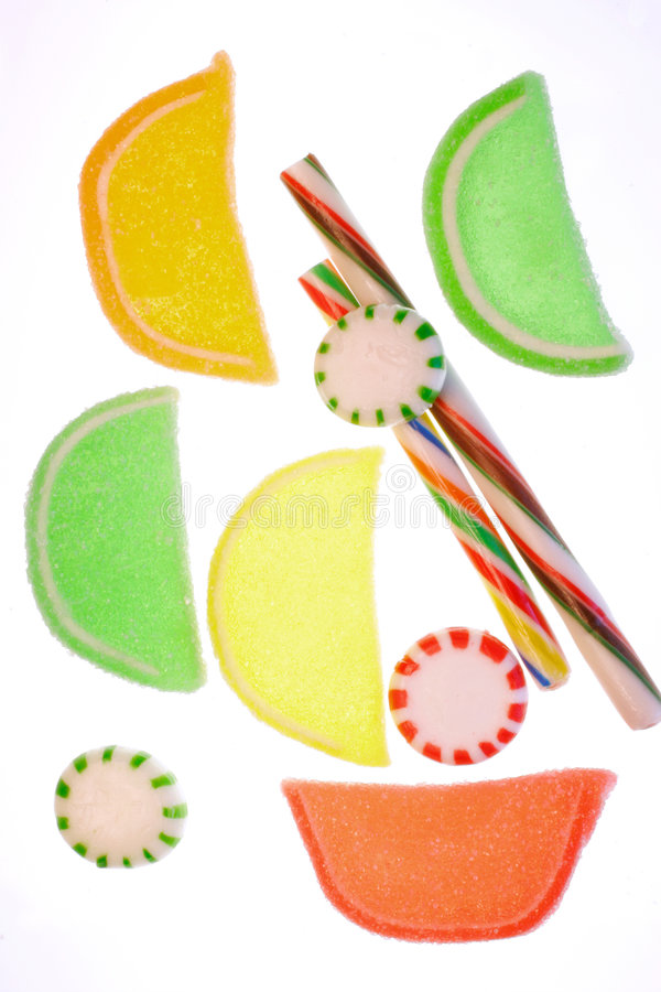 Kleurrijk ouderwets suikergoed. stock foto's
