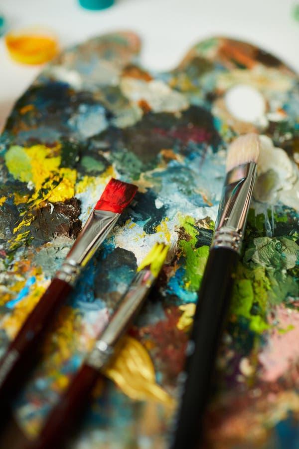 kleurrijk palet stock afbeelding