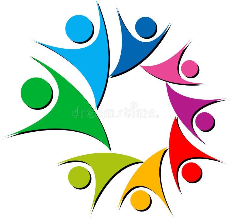Kleurrijk parenembleem royalty-vrije illustratie