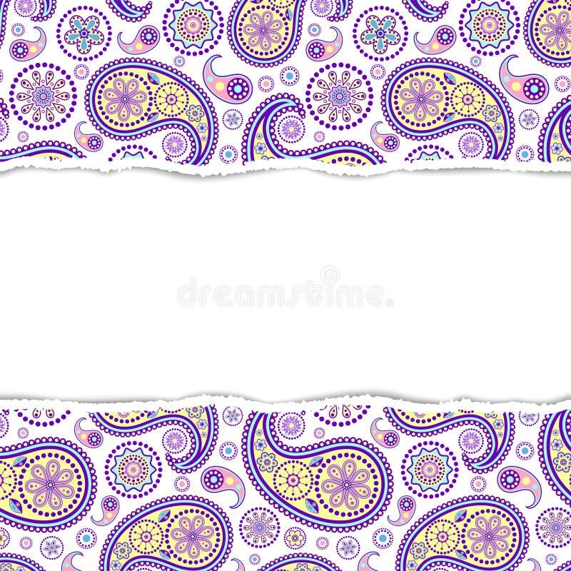 Kleurrijk patroon met gescheurd document vector illustratie