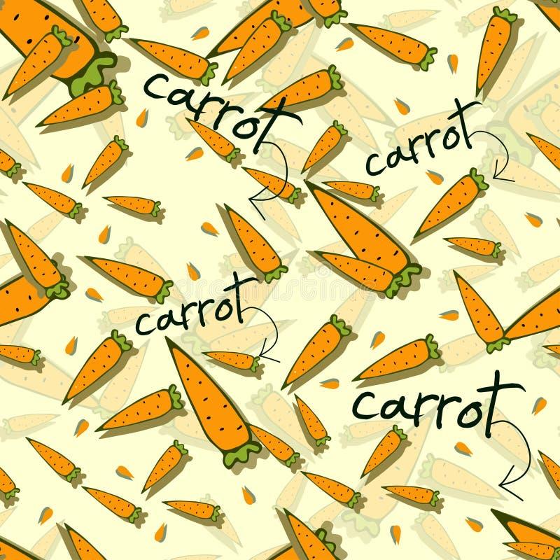 Kleurrijk patroon met wortelen vector illustratie