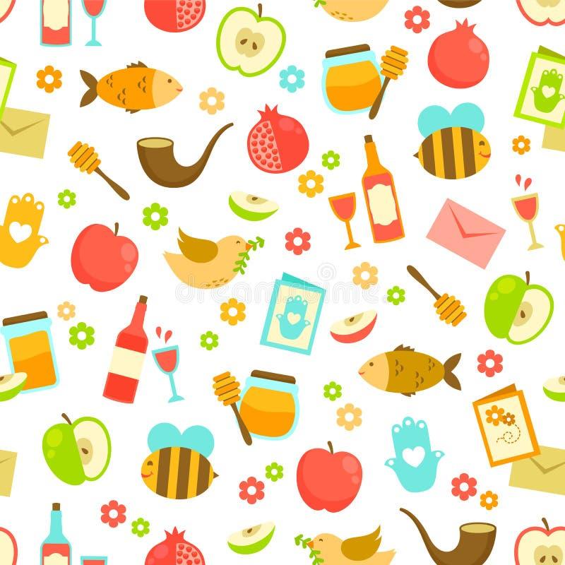 Kleurrijk patroon voor Rosh Hashanah stock illustratie