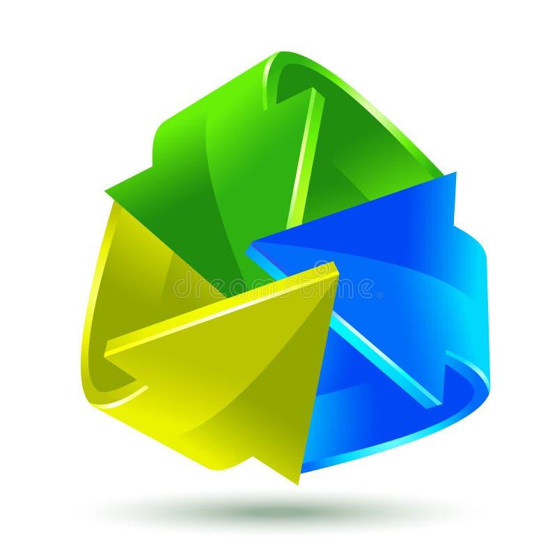 Kleurrijk pijlenpictogram stock illustratie