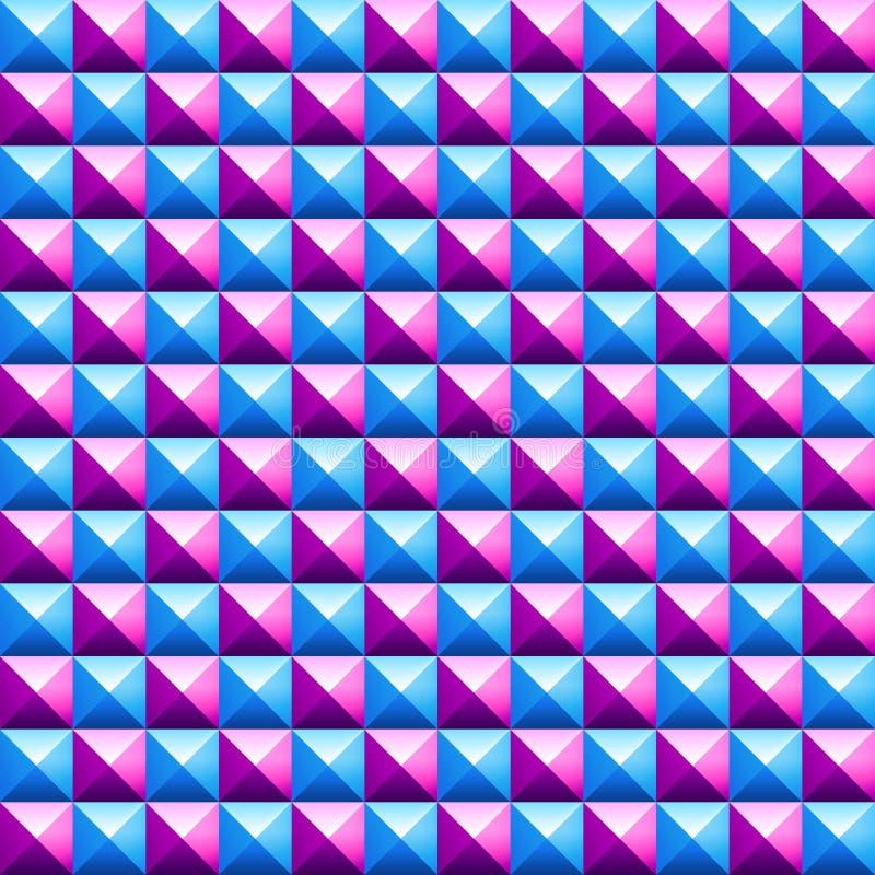 Kleurrijk piramides naadloos vectorpatroon royalty-vrije illustratie