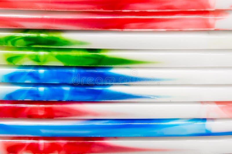 Kleurrijk plastiek stock foto's