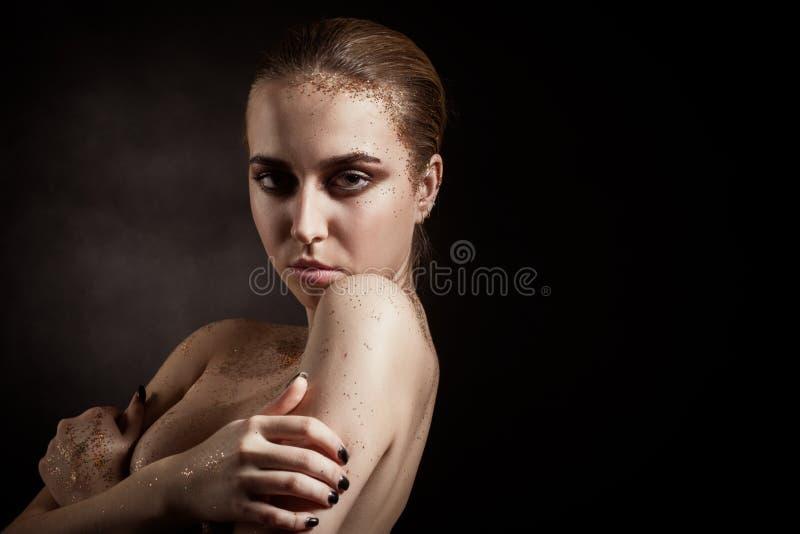 Kleurrijk polijst make-up royalty-vrije stock foto